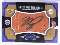 2005 Sweet Spot Signatures Leather Glove Mike Piazza autograph auto #/15 *71965