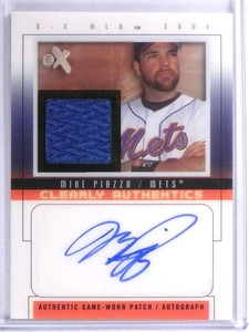 2004 EX Clearly Authentics Mike Piazza autograph auto patch #D07/31 *71969