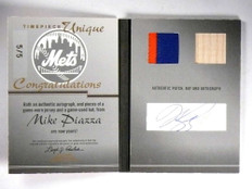 2005 Fleer Showcase Mike Piazza autograph auto patch bat book #D5/5 *71973