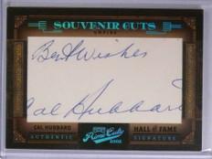 2005 Playoff Prime Cuts Souvenir Cal Hubbard autograph auto #D12/26 #8 *71978