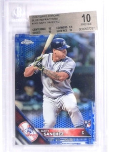 2016 Topps Chrome Blue Refractor Gary Sanchez rc rookie #D99/150 BGS 10 *71866