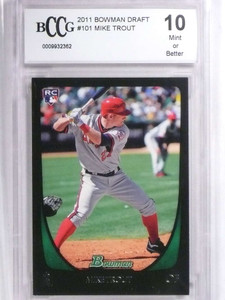 2011 Bowman Draft Mike Trout rc rookie #101 BCCG 10 *71868