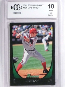 2011 Bowman Draft Mike Trout rc rookie #101 BCCG 10 *71869