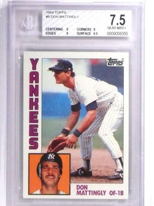 1984 Topps Don Mattingly rc rookie #8 BGS 7.5 Yankees *71884