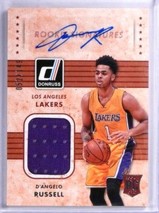 2015-16 Donruss Rookie Signatures D'Angelo Russell autograph jersey #/149 *71982