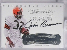 2017 Panini Flawless Memorable Marks Jim Brown autograph auto #D4/5 *71896