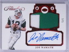 2017 Panini Flawless Red Joe Namath autograph auto 2clr patch #D5/5 *71906