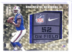 2016 Panini Spectra Monumental Cardale Jones Laundry Tag patch rc #D 1/1 *72002