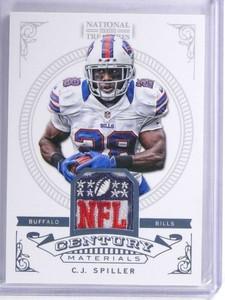 2012 National Treasures Century C.J. Spiller NFL shield patch #D 1/1 *72035