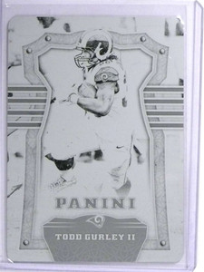2017 Panini Plates & Patches Todd Gurley Black Printing Plate #D 1/1 *72029