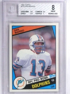 1984 Topps Dan Marino rc rookie #123 BGS 8 NM-MT Dolphins *71867