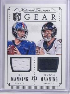 2015 National Treasures Gear Eli Peyton Manning Dual Jersey #D16/25 #GCMM *64073