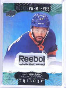 2017-18 Upper Deck Trilogy Josh Ho-Sang Reebok tag patch rookie rc #D2/5 *71976