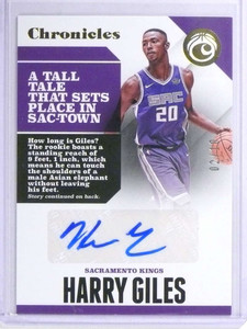 2017-18 Panini Chronicles Harry Giles autograph auto rc rookie #D02/10  *72068
