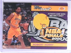 2000-01 Topps Stars NBA Finals Robert Horry jersey #TSR3H Lakers *72102