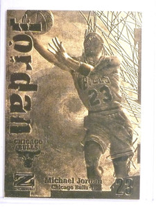 1998 Skybox Z Froce 23KT Gold Card Michael Jordan  Limited Edition *72104