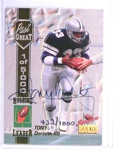 1994 Signature Rookies Past Great Tony Dorsett autograph auto #D/1000 *72061