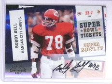 2010 Playoff Contenders Super Bowl Tickets Bobby Bell autograph auto #11 *72163