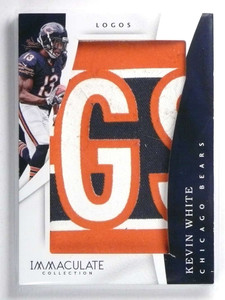 2017 Panini Immaculate Logos Kevin White 3 color patch jumbo #D2/2 *72134