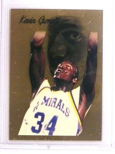 1995 Collect-A-Card Pro Draft 95 Kaevin Garnett rc rookie 1 gram gold *72215