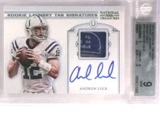 2012 National Treasures Rookie Laundry Tag Patch Andrew Luck autograph /10 *72179