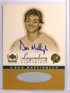2000 Upper Deck Yankees Legends Pinstripes Don Mattingly autograph jersey *72225