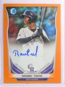 2014 Bowman Chrome Orange Refractor Raimel Tapia autograph rc #d25/25 *72227