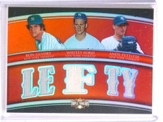2010 Topps Triple Threads Ron Guidry Pettitte Whitey Ford jersey #D10/36 *72289