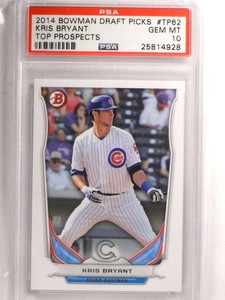 2014 Bowman Draft Top Prospects Kris Bryant rc rookie #TP62 PSA 10  *72198