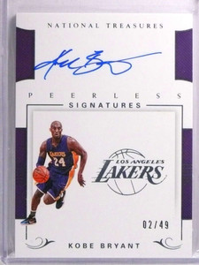 2017-18 National Treasures Peerless Kobe Bryant autograph auto #D02/49 *72216