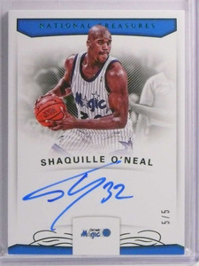 2017-18 National Treasures Shaquille O'neal autograph auto #D5/5 #S-ON *72228