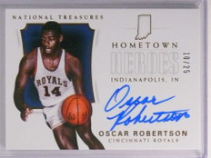 2017-18 National Treasures Hometown Heroes Oscar Robertson autograph /25 *72231