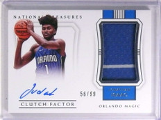 2017-18 National Treasures Clutch Jonathan Isaac autograph jersey rc /99 *72272