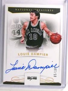 2017-18 National Treasures Louie Dampier autograph auto #D05/10 #S-LDP *72348