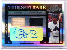 2004 Playoff Absolute Tools Trade Darryl Strawberry auto patch bat #D5/5 *42653
