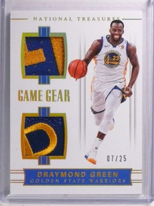 2017-18 National Treasures Game Gear Draymond Green dual patch #D07/25 *72273