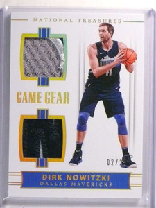 2017-18 National Treasures Game Gear Dirk Nowitzki dual patch #D02/25 *72293