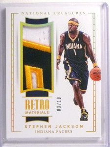 2017-18 National Treasures Retro Materials Stephen Jackson patch #D03/10 *72299