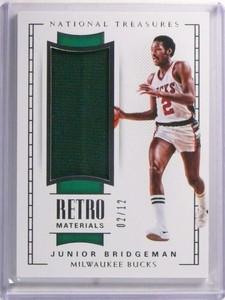 2017-18 National Treasures Retro Materials Junior Bridgeman jersey #D02/12 *72321
