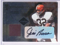 2005 Leaf Limited Trademarks Jim Brown autograph auto jersey #D33/50 *72223