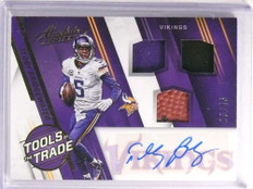 2016 Absolute Tools OF Trade Teddy Bridgewater autograph ball jersey #d/45 *72301