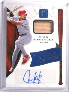 2016 Panini Pantheon Noble Timber Juan Gonzalez autograph bat #D178/199 *72410