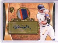 2013 Topps Supreme David Wright autograph auto 3 color patch #D1/5 METS *72527