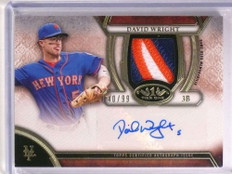 2015 Topps Tier One David Wright autograph auto 3 color patch #D40/99 *72529
