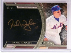 2015 Topps Tier One Acclaimed Bronze David Wright autograph auto #D08/25 *72542