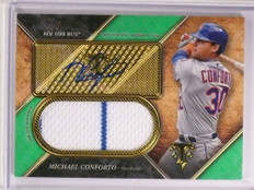 2017 Topps Triple Threads Michael Conforto autograph auto jersey #D50/50  *72545