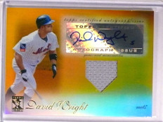 2009 Topps Tribute Gold David Wright autograph auto jersey #D12/25 Mets *72581