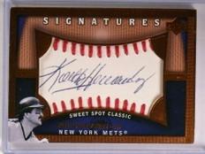 2005 Sweet Spot Classic signatures Keith Hernandez autograph auto #KH *72627