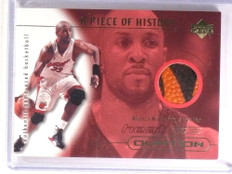 2000-01 Upper Deck Ovation A Piece Of History Alonzo Mourning basketball *72420