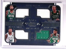 2017-18 Dominion Kyrie Irving Horford Smart Brown jersey quad #D04/75 *72643
